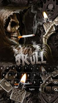 Smoking Skull Lighter Keyboard poster