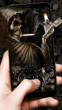 Smoking Skull Lighter Keyboard screenshot 2