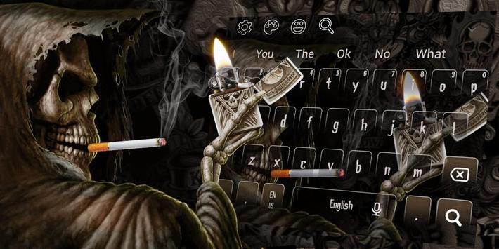 Smoking Skull Lighter Keyboard screenshot 4