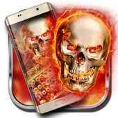 The fire skull cool keyboard theme icon