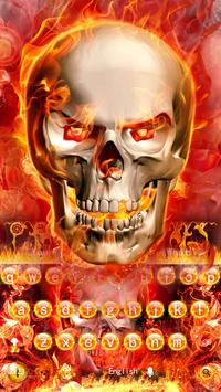 The fire skull cool keyboard theme screenshot 3