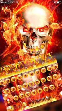 The fire skull cool keyboard theme screenshot 1
