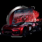 Racing car keyboard icon