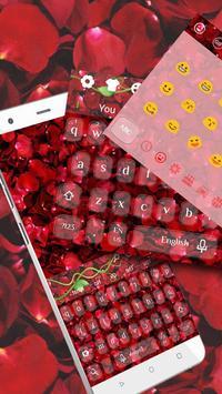 Red rose keyboard poster