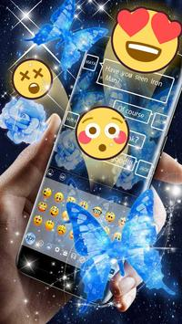 Dream butterfly blue glow&starry sky neon keyboard screenshot 6