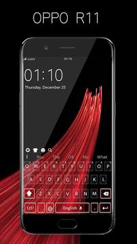 Theme for oppo R11 concise style HD keyboard theme poster