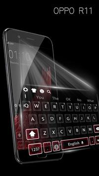 Theme for oppo R11 concise style HD keyboard theme screenshot 1