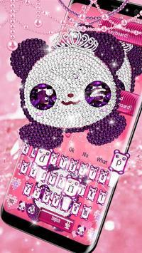 Pink Diamond Panda Keyboard Theme poster