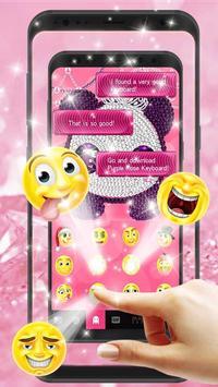 Pink Diamond Panda Keyboard Theme screenshot 1
