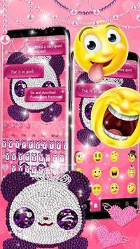 Pink Diamond Panda Keyboard Theme screenshot 2