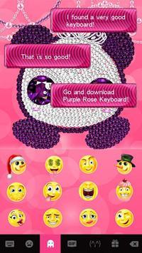 Pink Diamond Panda Keyboard Theme screenshot 4