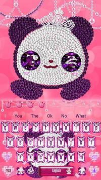 Pink Diamond Panda Keyboard Theme screenshot 5