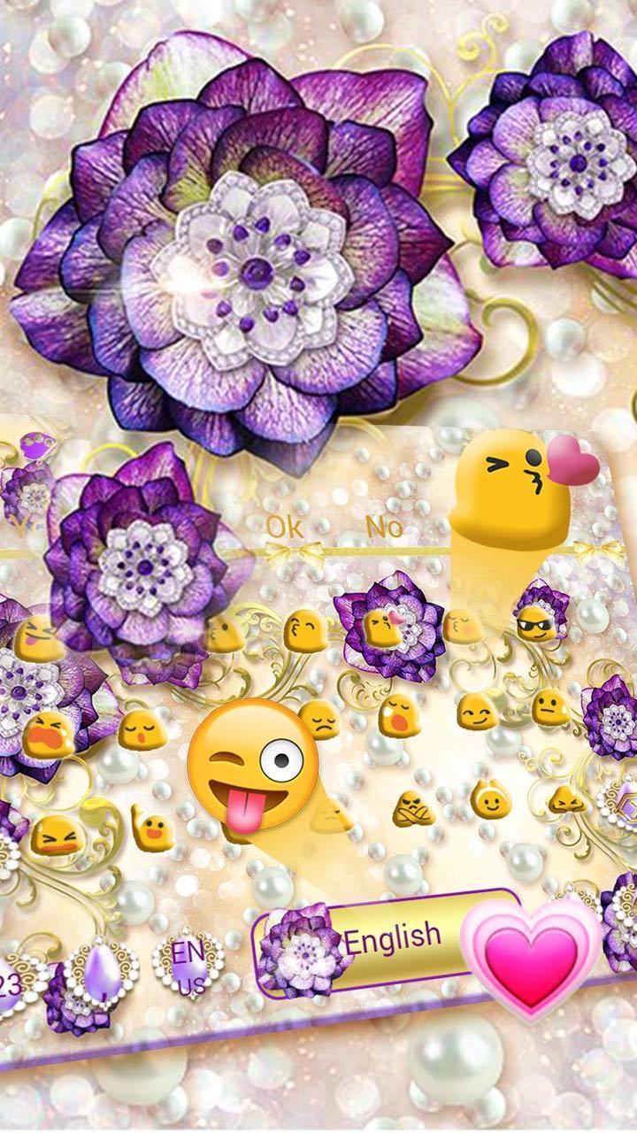Purple Flower Keyboard Theme full version apk