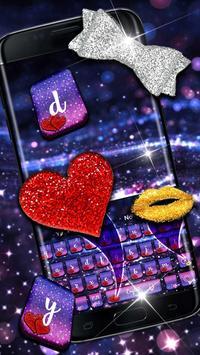 Lustrous Twinkling Keyboard Theme poster