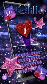 Lustrous Twinkling Keyboard Theme screenshot 1