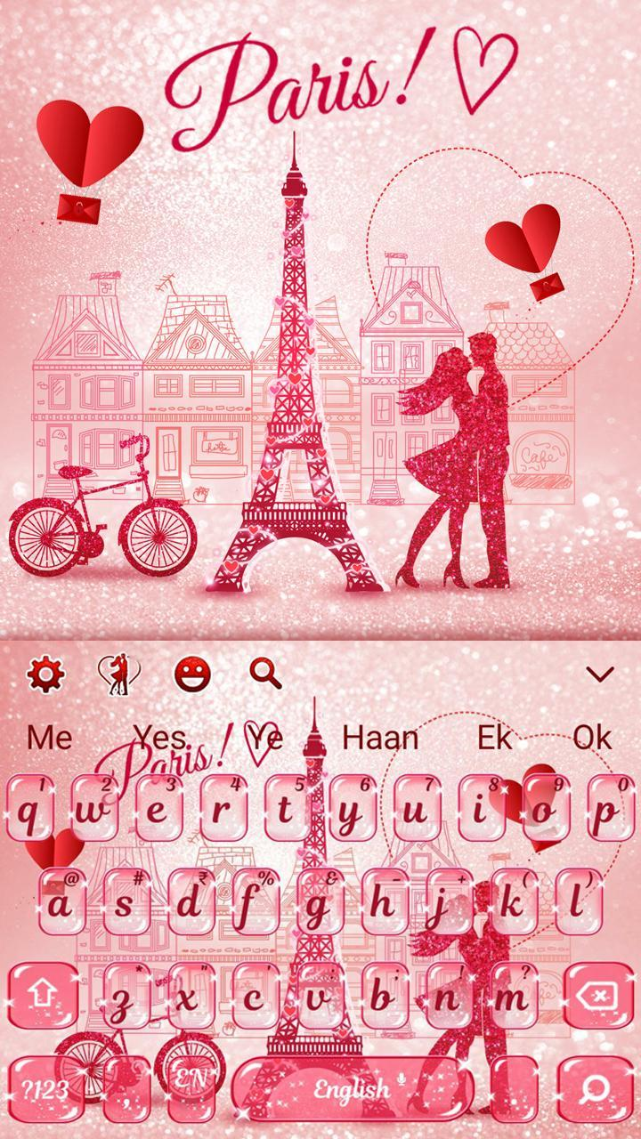 Paris Romance Glitter Keyboard For Android APK Download