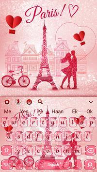 Paris Romance Glitter keyboard screenshot 3