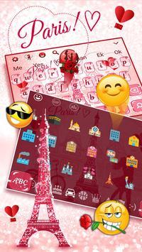 Paris Romance Glitter keyboard screenshot 1
