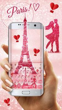 Paris Romance Glitter keyboard screenshot 2