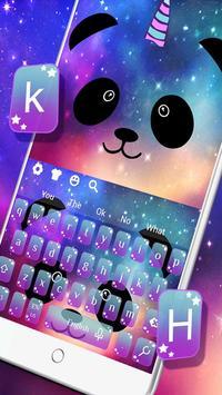 Cartoon Unicorn Panda Keyboard Theme screenshot 2