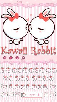 Kawaii Rabbit Keyboard poster