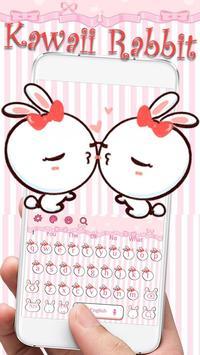 Kawaii Rabbit Keyboard screenshot 1