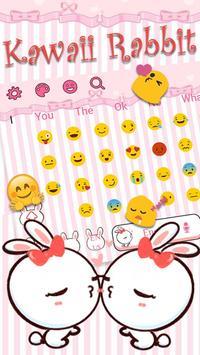 Kawaii Rabbit Keyboard screenshot 2