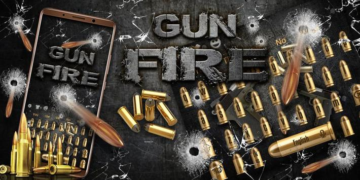 Fire Gun and Bullet Keyboard Theme screenshot 3