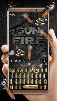 Fire Gun and Bullet Keyboard Theme poster