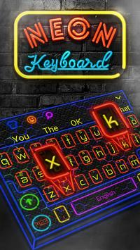 Neon Keyboard poster