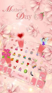 Pink Flower Keyboard Theme screenshot 1