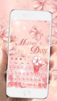 Pink Flower Keyboard Theme screenshot 5