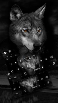 Wild Wolf Keyboard Theme poster