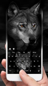 Wild Wolf Keyboard Theme screenshot 1