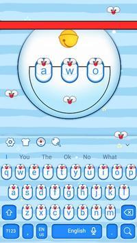 Cute Blue Cat Keyboard Theme screenshot 3
