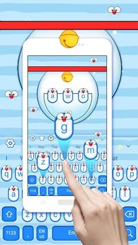 Cute Blue Cat Keyboard Theme poster
