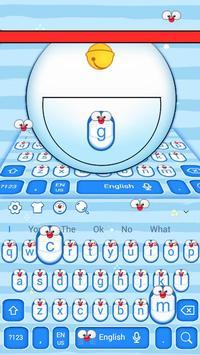 Cute Blue Cat Keyboard Theme screenshot 1