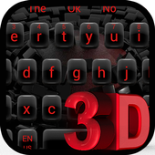 3D Red Black icon