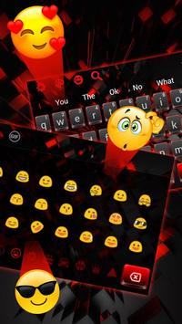 3D Cool Red and Black Keyboard screenshot 3