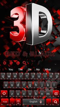 3D Cool Red and Black Keyboard poster