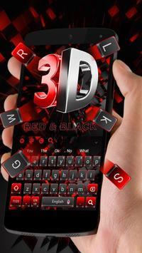 3D Cool Red and Black Keyboard screenshot 1