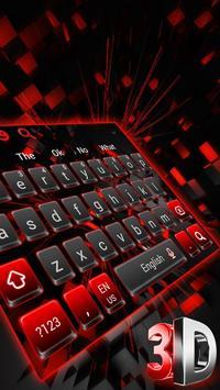 3D Cool Red and Black Keyboard screenshot 2