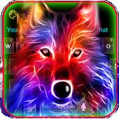 3D Wild Neon Wolf Keyboard Theme icon