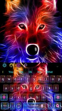 3D Wild Neon Wolf Keyboard Theme screenshot 3