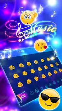 Colorful Neon Music Keyboard Theme screenshot 3