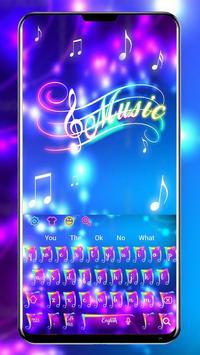 Colorful Neon Music Keyboard Theme screenshot 1