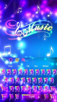 Colorful Neon Music Keyboard Theme screenshot 2