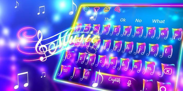 Colorful Neon Music Keyboard Theme screenshot 4