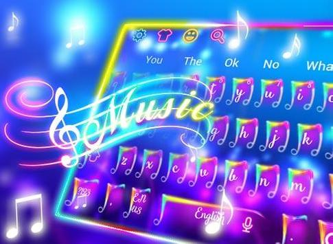 Colorful Neon Music Keyboard Theme screenshot 5
