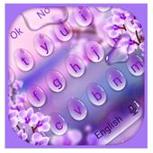Charming Purple Water Droplets Keyboard icon